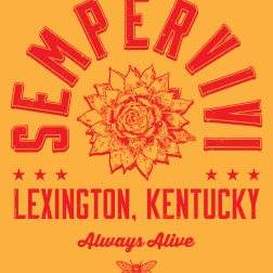 """Sempervivi """"Always Alive"""" T-shirt design detail"""