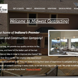 Remodling website design for Indiana contractors