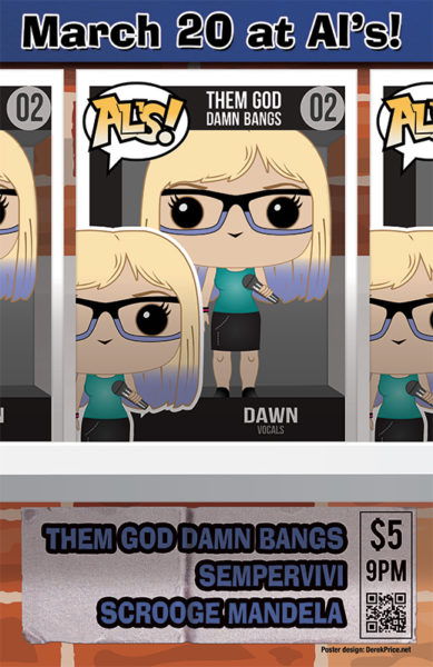 "Funko Pop poster design ""Dawn"" variant"