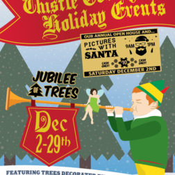 Christmas event poster design for Muhlenberg County Public Library