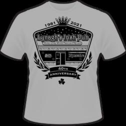 Lynagh's Irish Pub 40th anniversary shirt design