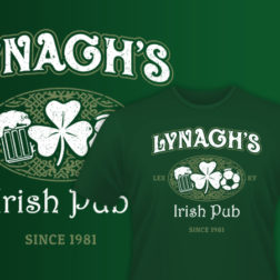 Irish shirt design for Lynagh's Irish Pub in Lexington, KY