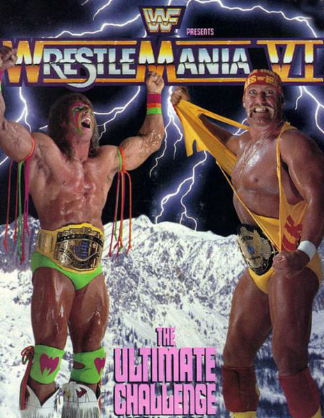 Wrestlemania VI promo art this music poster design is based on