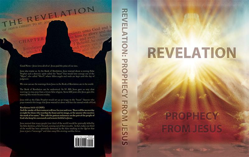 Christian book cover design for Revelation of Jesus