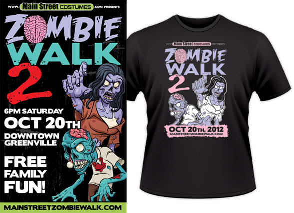 Zombie Walk 2 event promotion design
